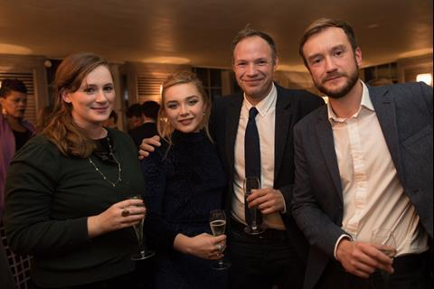 Stars Fodhla Cronin O'Reilly and Florence Pugh with Will Massa and Rob Watson, Star.